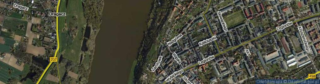 Zdjęcie satelitarne Wędkarska ul.