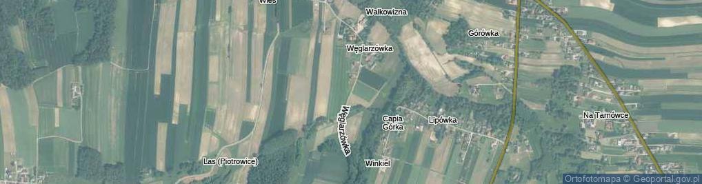 Zdjęcie satelitarne Węglarzówka ul.