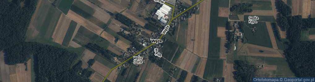Zdjęcie satelitarne Węże ul.