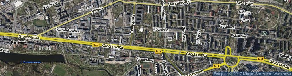 Zdjęcie satelitarne Weterynaryjna ul.