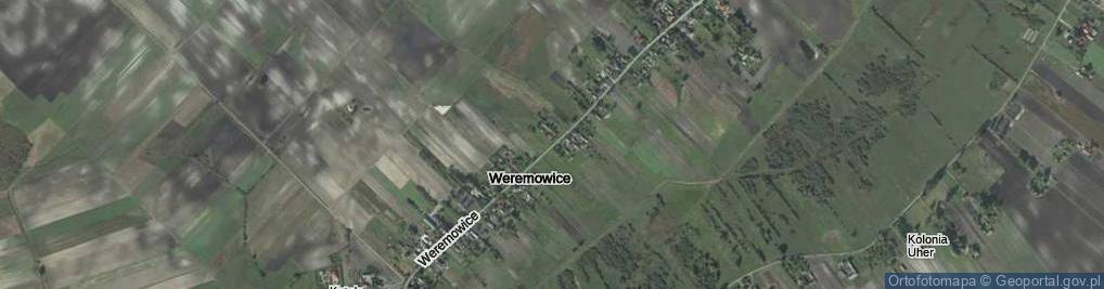 Zdjęcie satelitarne Weremowice ul.