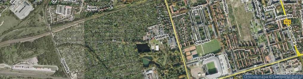 Zdjęcie satelitarne Webera Stanisława ul.