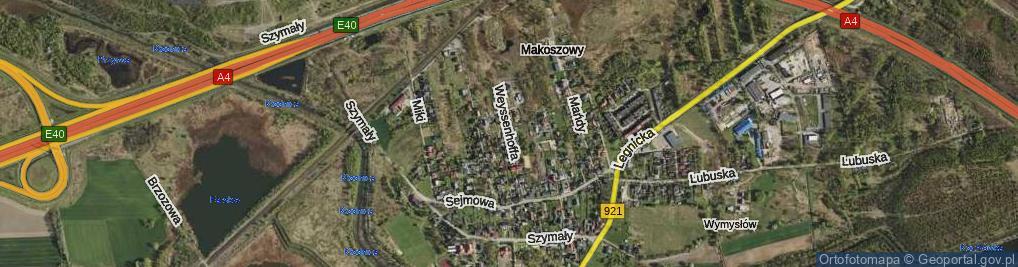 Zdjęcie satelitarne Weyssenhoffa Józefa ul.