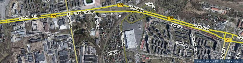 Zdjęcie satelitarne Widzewska ul.