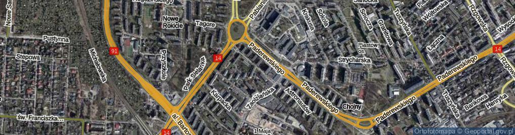 Zdjęcie satelitarne Wiwulskiego Antoniego ul.