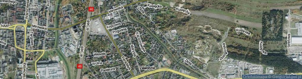 Zdjęcie satelitarne Wioślarska ul.