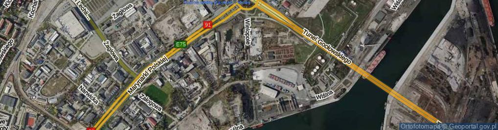 Zdjęcie satelitarne Wielopole ul.