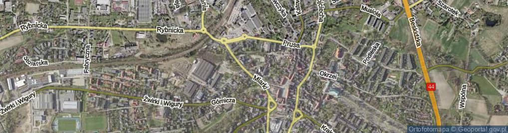 Zdjęcie satelitarne Więcka Tadeusza, dr. ul.