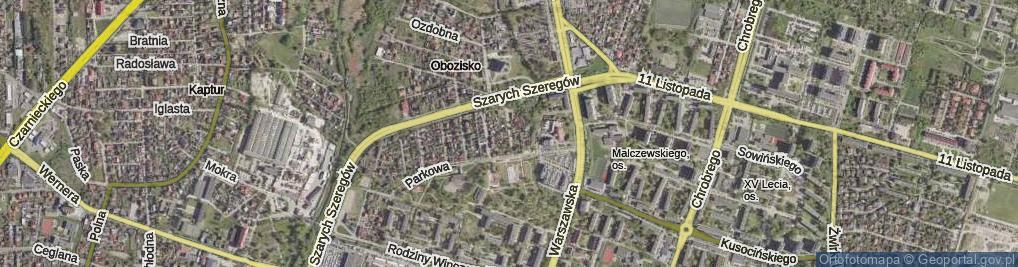 Zdjęcie satelitarne Wietrzna ul.