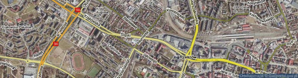 Zdjęcie satelitarne Wiadukt Śląski ul.