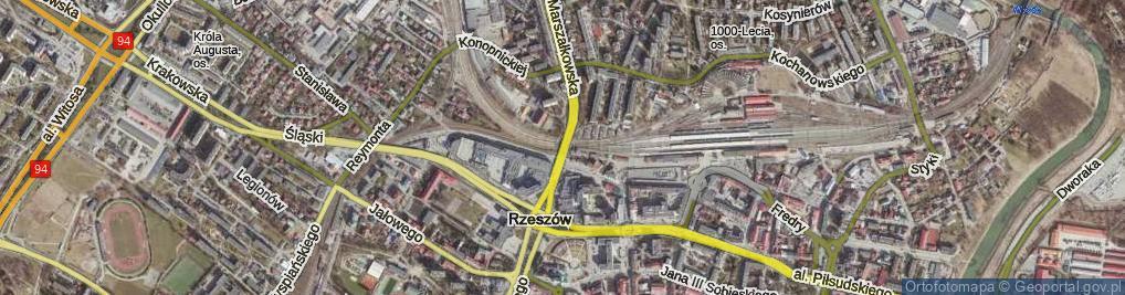 Zdjęcie satelitarne Wiadukt Tarnobrzeski ul.