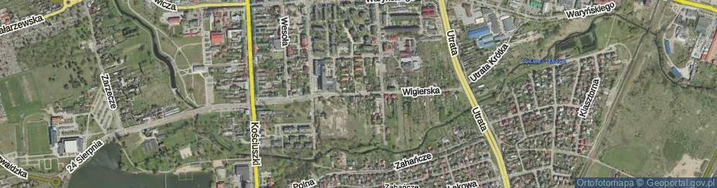Zdjęcie satelitarne Wigierska ul.