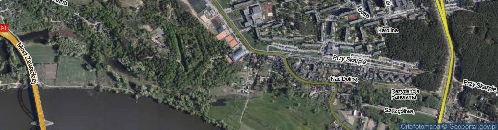 Zdjęcie satelitarne Wianki ul.