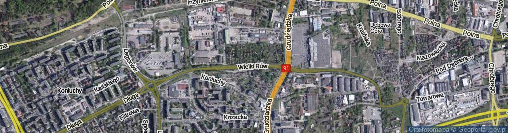 Zdjęcie satelitarne Wielki Rów ul.
