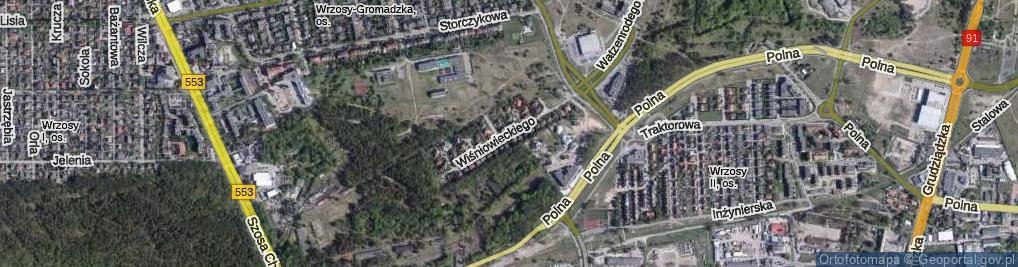 Zdjęcie satelitarne Wiśniowieckiego Jeremiego ul.