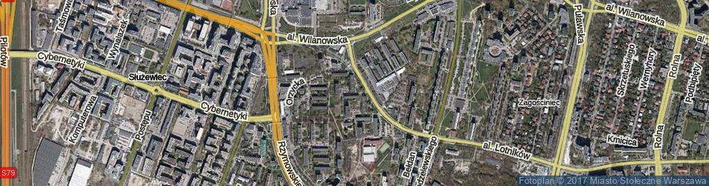 Zdjęcie satelitarne Wiartel ul.