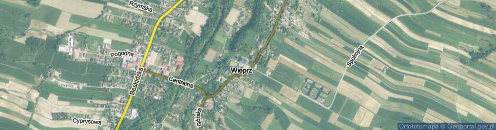Zdjęcie satelitarne Wieprz ul.