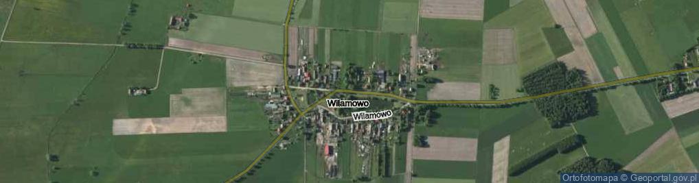 Zdjęcie satelitarne Wilamowo ul.