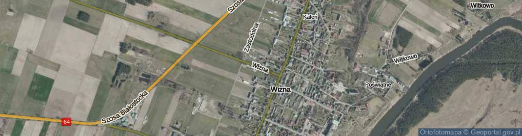 Zdjęcie satelitarne Wizna ul.