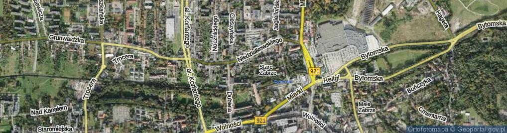 Zdjęcie satelitarne Widery Franciszka ul.