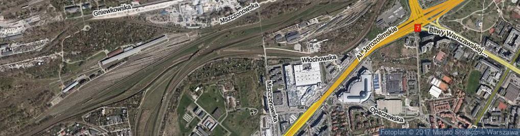 Zdjęcie satelitarne Włochowska ul.