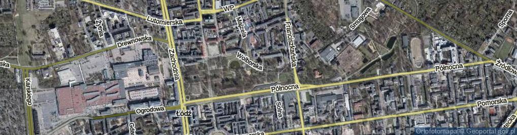 Zdjęcie satelitarne Wolborska ul.
