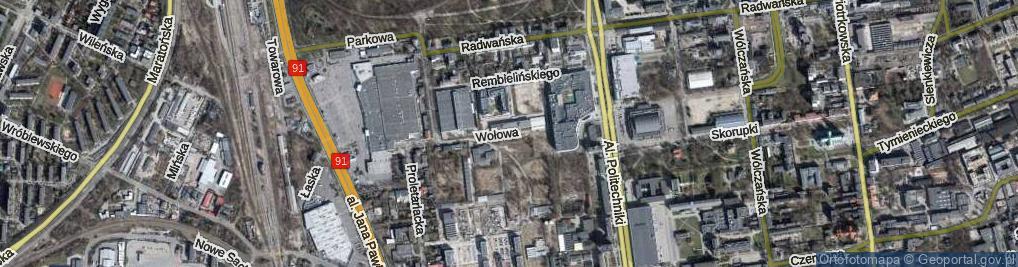 Zdjęcie satelitarne Wołowa ul.