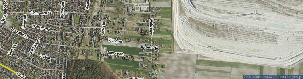 Zdjęcie satelitarne Wolwinów ul.