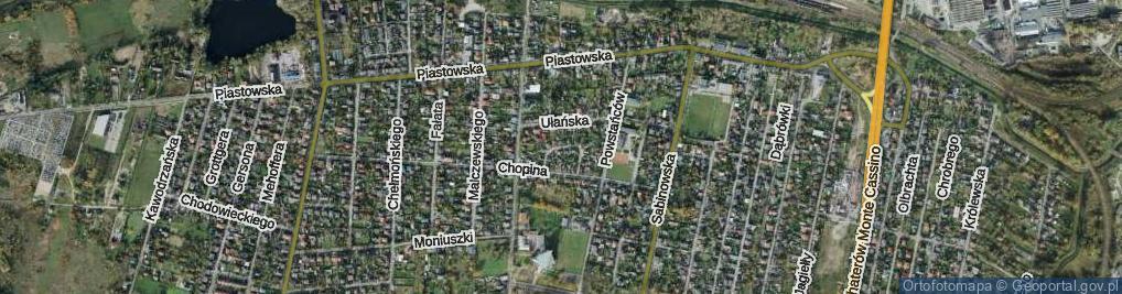 Zdjęcie satelitarne Wojskowa ul.