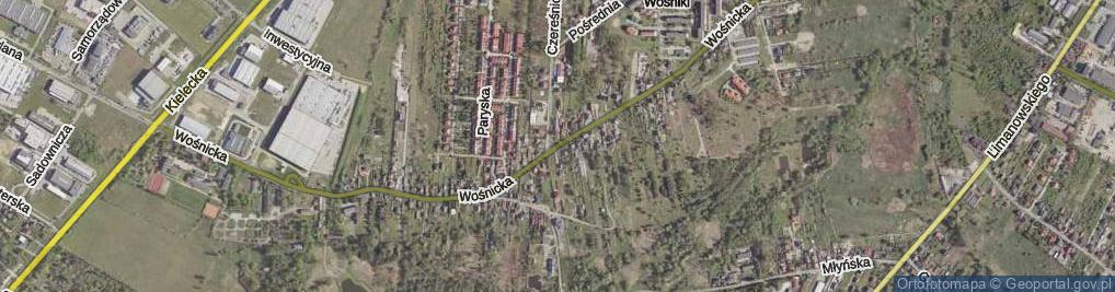 Zdjęcie satelitarne Wośnicka ul.