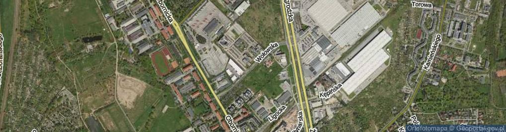 Zdjęcie satelitarne Wołowska ul.