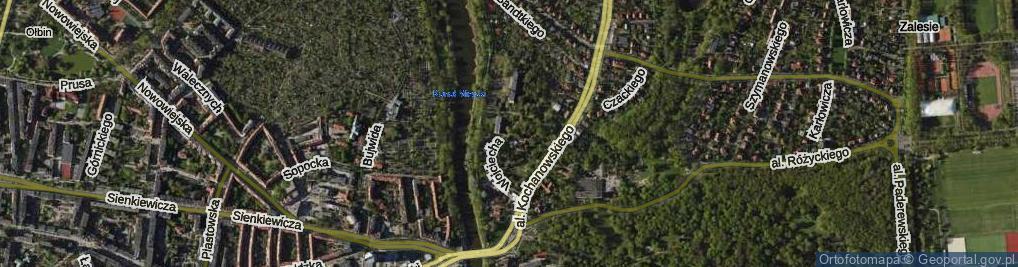 Zdjęcie satelitarne Wojciecha z Brudzewa ul.