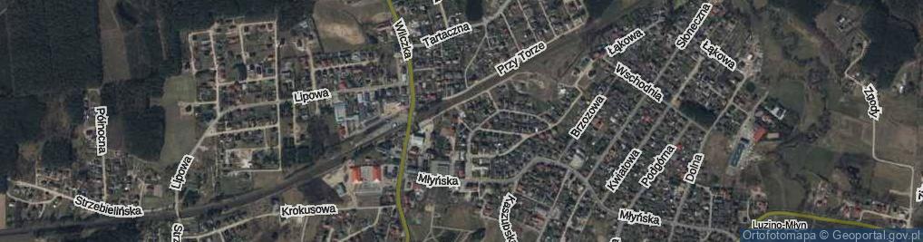 Zdjęcie satelitarne Wryczy, ks. ul.