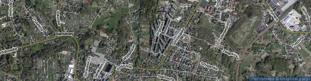 Zdjęcie satelitarne Wrębowa ul.