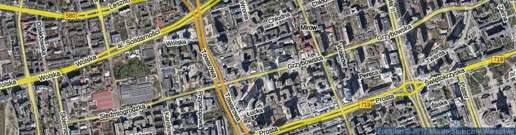 Zdjęcie satelitarne Wronia ul.