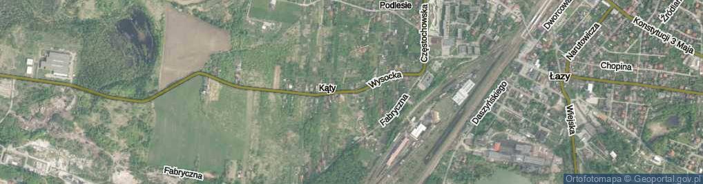 Zdjęcie satelitarne Wysocka ul.