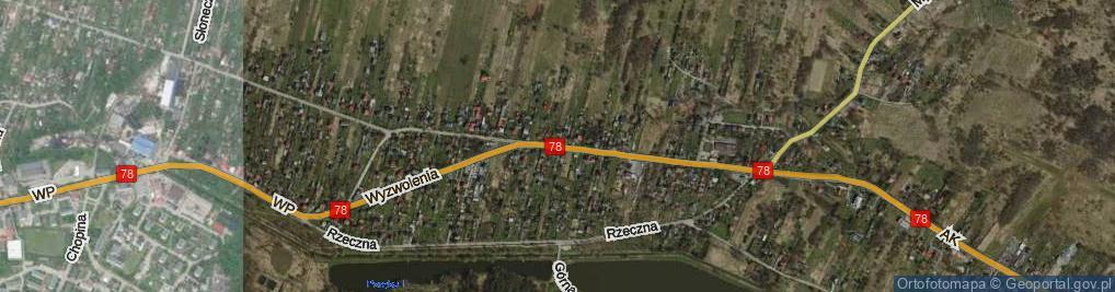 Zdjęcie satelitarne Wyzwolenia ul.