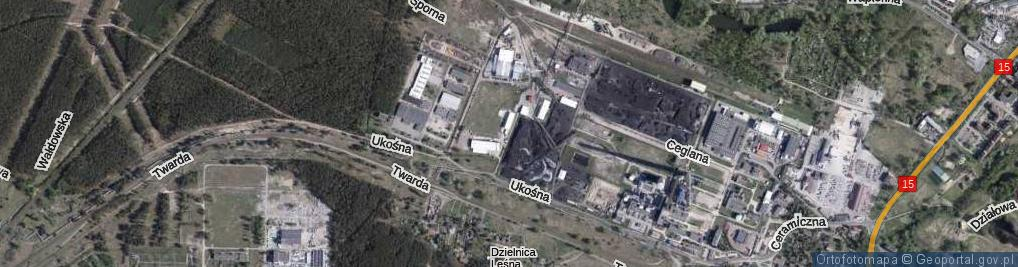 Zdjęcie satelitarne Wykopy ul.