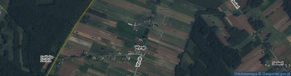 Zdjęcie satelitarne Wyrąb ul.