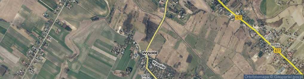 Zdjęcie satelitarne Wysokie ul.