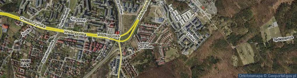 Zdjęcie satelitarne Wzgórze Bernadowo ul.