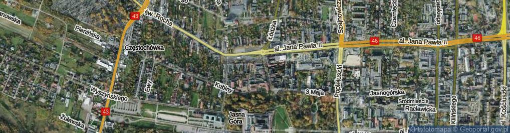 Zdjęcie satelitarne Zaułek Wieluński ul.