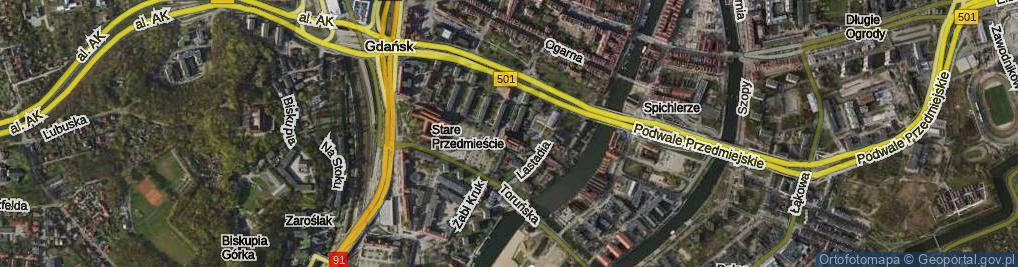 Zdjęcie satelitarne Zaułek Ormiański ul.