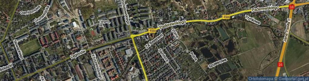Zdjęcie satelitarne Za Basenem ul.