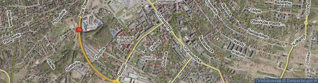 Zdjęcie satelitarne Zacisze ul.