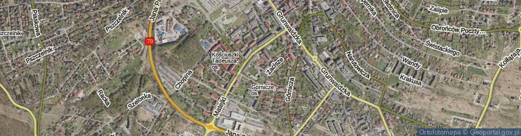 Zdjęcie satelitarne Zacisze Boczna ul.