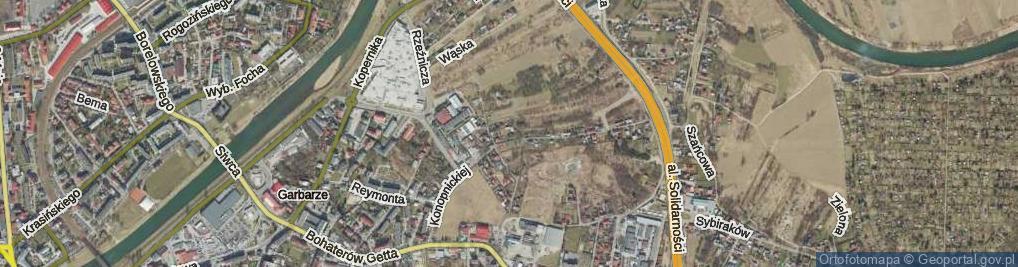 Zdjęcie satelitarne Zamknięta ul.