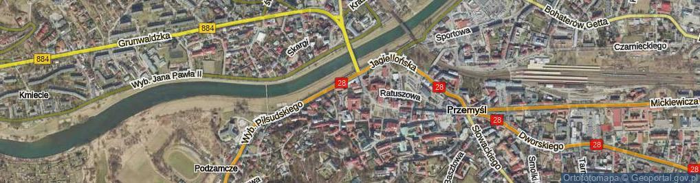 Zdjęcie satelitarne Zaułek Wojaka Szwejka ul.