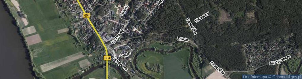 Zdjęcie satelitarne Zakole ul.
