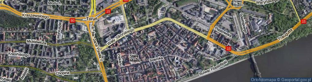 Zdjęcie satelitarne Zaułek Prosowy ul.